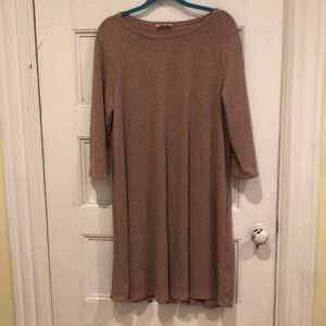 NWOT Light Pink Sweater Dress Midi Length